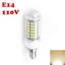 220V E12 6W 2850K Clear LED Corn Bulb