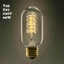 Vintage LOFT 220V T45 E27 60W Edison Bulb