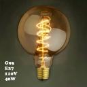 Spiral 95*140mm G95 110V  E27 40W Edison Bulb
