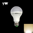 220V 7W E27 Warm White Light LED Globe Bulb