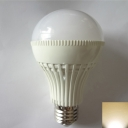 3000K 180° E27 9W  LED Ball Bulb in White
