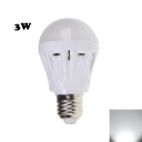Plastic 2835SMD E27 3W Cool White  LED Globe Bulb