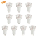 10 Pcs GU10 4W Warm White LED Par Bulb