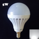 E14 180° 27Leds  5W Cool White Light Globe Bulb