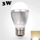 220V Warm White E27 3W LED Globe Bulb