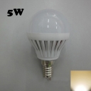 SMD2835 180° PC 220V Warm White  E14 5W LED Globe Bulb