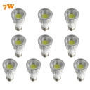 10Pcs  3000K E27 220V 7W 110lm LED COB Par 10Pcs