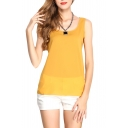 Ginger Slim Chiffon Tanks