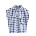 Black Plaid Short Sleeve Pocket Shirt