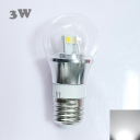 Mini LED Ball Bulb  6000K 300lm 85-265V E27 3W  in Silver Fiinish