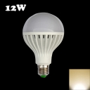 220V 12W E27 Warm White Light LED Globe Bulb