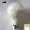 SMD2835 180° E27 5W 3000K LED Ball Bulb in White PC