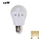 12W 2835SMD E27 Warm White Plastic LED Globe Bulb