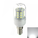 30LED 6000K 110V E12 3W  Clear Shade LED Corn Bulb