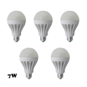 Cool White 7W 5Pcs E27 350lm 5730SMD LED Globe Bulb