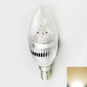 Silver E27 3W 180°240lm 6LED-5730SMD Warm White