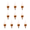 10Pcs 5W Golden 180°  Cool White LED E14 Candle Bulb
