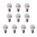 10Pcs 70*117mm E27 7W 220V Cool White Light LED Bulb