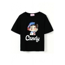Short Sleeve Schoolgirl with Candy Crop T-Shirt