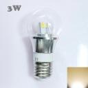 300lm 85-265V E27 3W Mini LED Ball Bulb  in Silver Fiinish