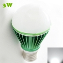 LED Globe Bulb Green 300lm E27 3W Cool White Light