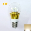E27 3W 300lm 85-265V  Mini LED Ball Bulb  in Gold Fiinish