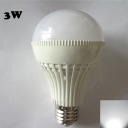 180° 220V E27 3W  Cool White Lighted LED Globe Bulb