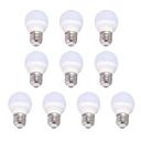 Cool White Light 10Leds 360° 220V E27 5W 10 Packs