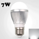 Cool White Light 220V  E27 7W LED Globe Bulb