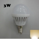 180° SMD2835 PC 220V Warm White  E14 3W LED Globe Bulb