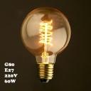 220V  80*120mm E27 40W G80 Spiral Edison Bulb