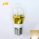 Gold Fiinish 4W 85-265V E27 Mini LED Ball Bulb