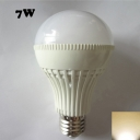 7W 220V E27 180° Warm White Lighted LED Globe Bulb
