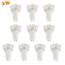10 Pcs GU10 3W Warm White LED Par Bulb