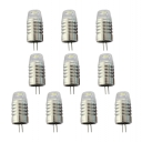 10Pcs Mini G4 12V 1.5W LED Bulb in Cool White Light
