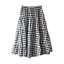 Elastic Waist  Mori Girl Style A-line Midi Skirt