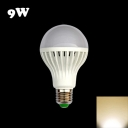 220V 9W E27 Warm White Light LED Globe Bulb