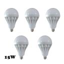 15W 5Pcs E27 350lm 5730SMD LED Globe Bulb