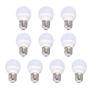 9W  10Leds 360° 220V E27 Cool White Light 10 Packs