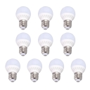 10Leds 360° 220V E27 3W Cool White Light 10 Packs