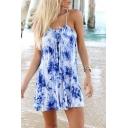 Floral Print Spaghetti Strap Beach Dress