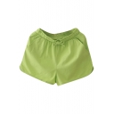 Green Drawstring Waist Hotpants