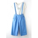 Summer Plain Mori Girl Detachable Overalls