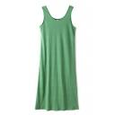 Casual Plain Tank Dress