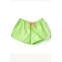 Summer Candy Color Plain Low Rise Loose Shorts
