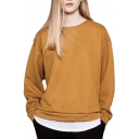 Golden Long Sleeve Knit Bat Sleeve Loose Sweater
