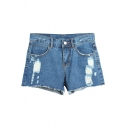 Hot Summer Distressed Low Waist Denim Shorts