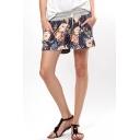 Summer Hot Drawstring Waist Wide Leg Shorts