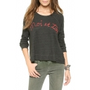 Black Long Sleeve Moi Et Toi Embroidered Sweatshirt