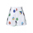 Japanese Cartoon Style Pattern Shorts